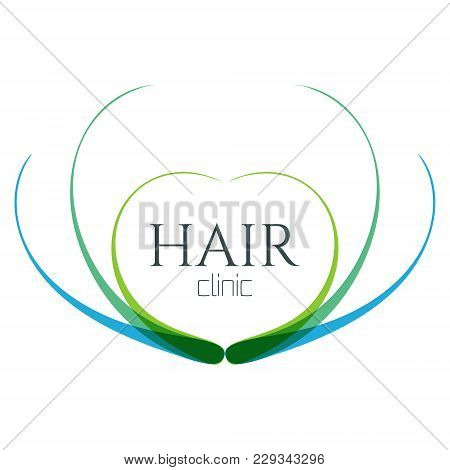 Hair Logo With Follicle Icons For Medical Diagnostic Centers And Clinics. Alopecia And Baldness Trea