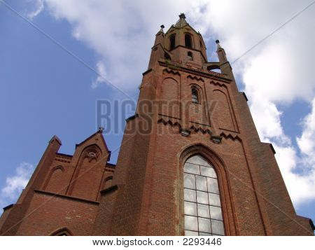 Brick-Red Church
