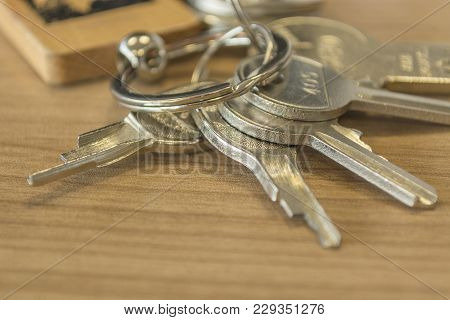 Set Of Home Keys On The Table