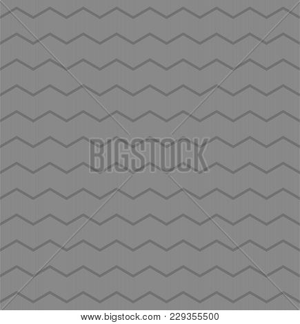 Zig Zag Chevron Grey Tile Vector Pattern