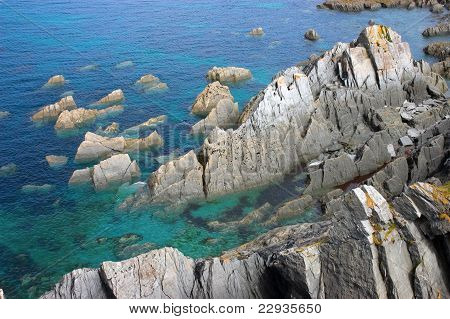 Rocky Outcrops In The Ocean