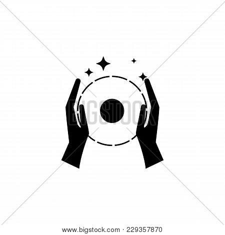 Focus With A Ball Icon.element Of Popular Magic Icon. Premium Quality Graphic Design. Signs, Symbols