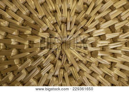 Wickerwork Structure Background Natural Handmade Backdrop Wooden