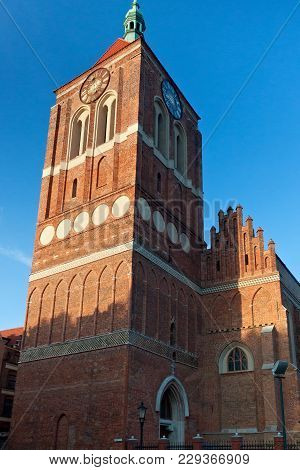 Gothic Church Of St. John In Old Gdansk (danzig). Poland. The Church Was Built In Xiv-xv Century.