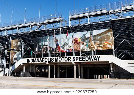Indianapolis - Circa March 2018: Gate Two Entrance At Indianapolis Motor Speedway. Ims Prepares For