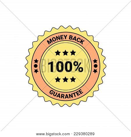 Money Back Guarantee Element Badge Or Label Isolated Business Seal Vector Illustration