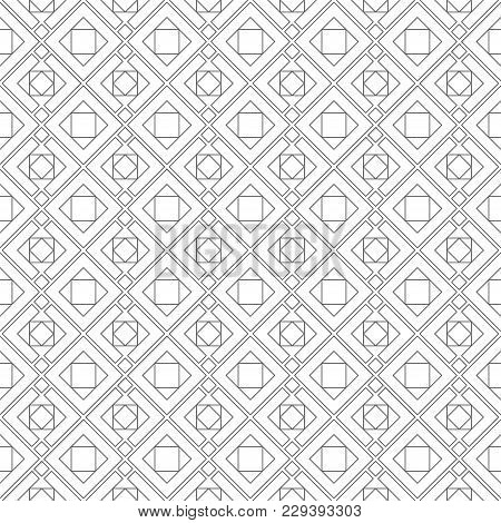 Vector Seamless Pattern. Modern Stylish Texture Consisting Of Thin Lines. Regularly Repeating Tiles