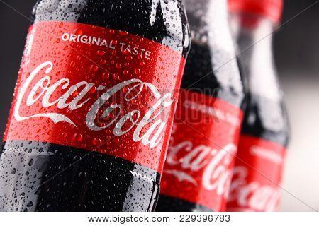 Bottles Of Carbonated Soft Drink Coca Cola