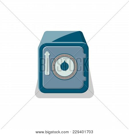 Metallic Safe Box With Closed Door Icon. Money Storage, Financial Safety, Cash Security, Bank Deposi