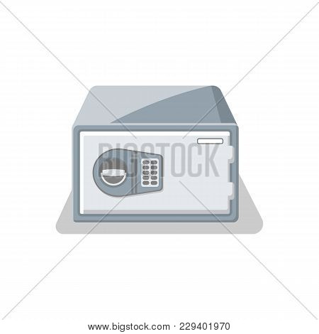 Door Bank Vault With Electronic Combination Lock Icon. Money Storage, Financial Safety, Cash Securit