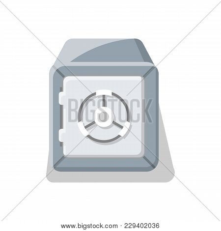 Armored Deposit Box Icon. Money Storage, Financial Safety, Cash Security, Bank Safe Box Isolated On