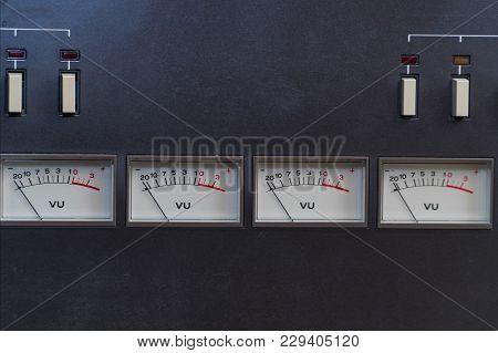 Old Analog Arrow Indicators On The Panel