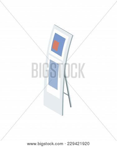Information Display Board Isometric 3d Element. Business Presentation And Marketing Vector Illustrat
