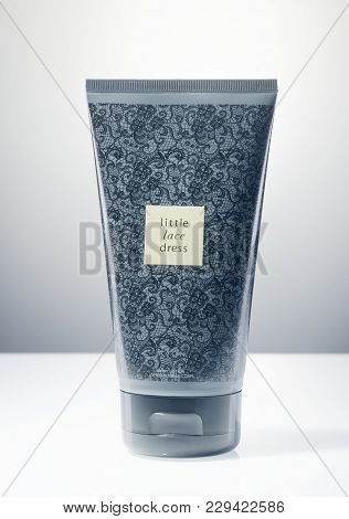 Kwidzyn, Poland - March 1, 2018: Avon Body Lotion Isolated On Gradient Background. Avon Products Inc