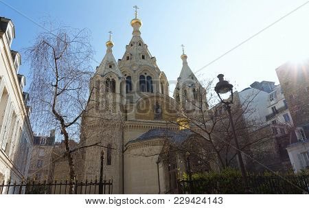The Alexander Nevsky Cathedral Is A Russian Orthodox Cathedral Church Located In The 8th Arrondissem