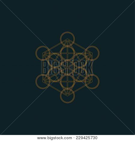 Sacred Geometry Vector Illustration: Metatron's Cube. Metatron's Cube Shares 2-d Resonance With The