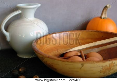 Pumpkin And Bowl