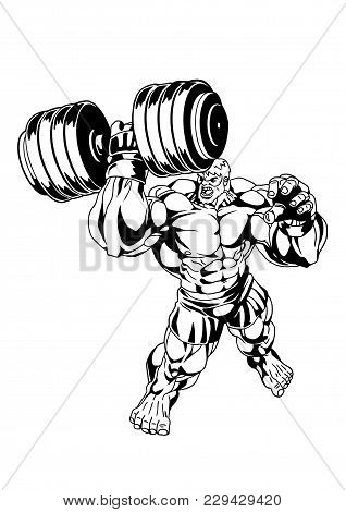 Muscular Brutal Vector Photo Free Trial