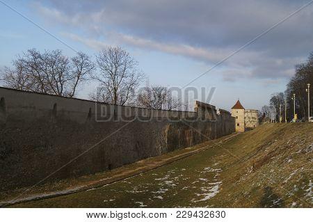 The Drapers Bastion (bastionul Postavarilor) And A Defenses Tower, Brasov, Transylvania, Romania