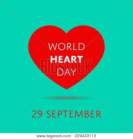 September 29 - World Heart Day Banner. International Campaign To Spread Awareness About Heart Diseas