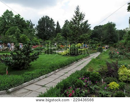 Ukraine, Zaporizhia - June 24, 2017: Excursion On Zaporizhzhya City Children's Botanical Garden. Bea