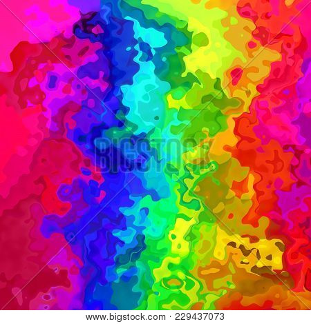 Abstract Stained Pattern Texture Background Rainbow Spectrum Color - Modern Painting Art - Watercolo