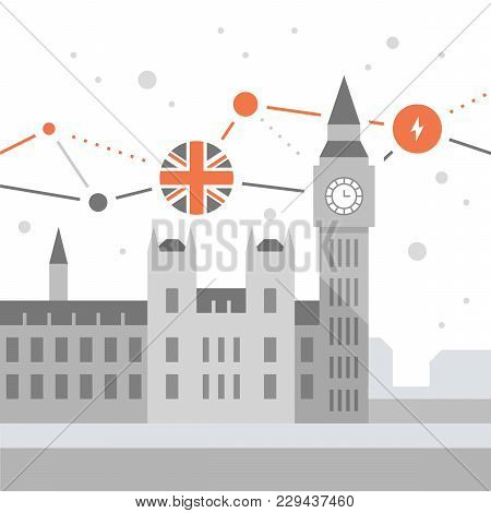 London Symbol, Travel Destination, Famous Landmark, Big Ben Tower With Clock, The Capital Of England