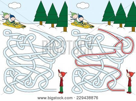 Sledding Maze For Kids With A Solution