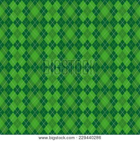 Festive Irish Tartan Diamond Seamless Pattern For St Patrick's Day