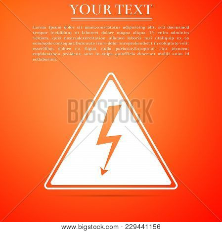High Voltage Sign Icon Isolated On Vector Photo Bigstock