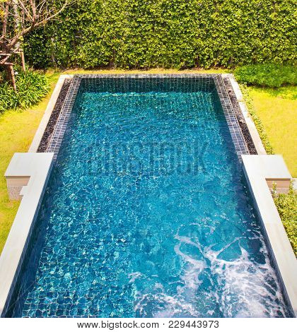 A Beautiful Pool In The Garden House.