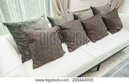 Classic Style Of Pillows And Sofa Color