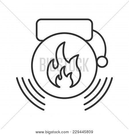 Fire Alarm Linear Icon. Alert. Thin Line Illustration. Contour Symbol. Vector Isolated Outline Drawi