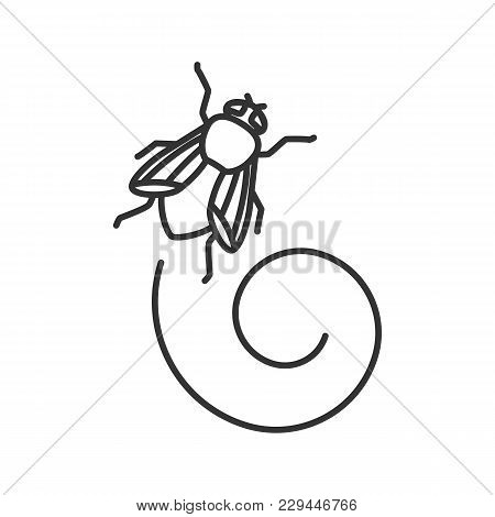Housefly Linear Icon. Insect. Musca Domestica. Fly Insect. Thin Line Illustration. Contour Symbol. V