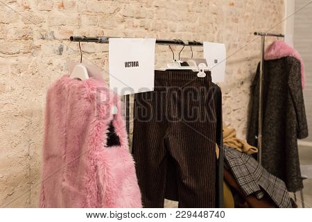Clothes Rack In The Backstage