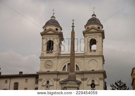The Church Of The Santissima Trinit Dei Monti, Often Called Merely The Trinit Dei Monti