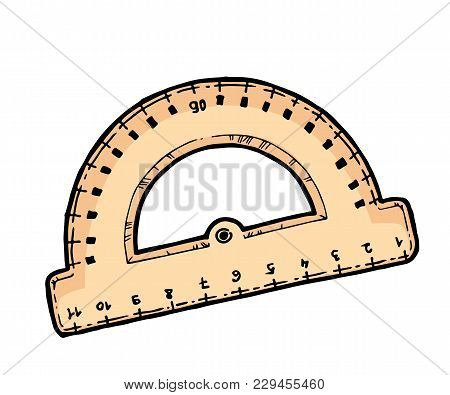 Wooden Ruler School Vector & Photo (Free Trial) | Bigstock