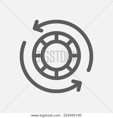 Blue Chip Stocks Icon Line Symbol. Isolated Vector Illustration Of  Icon Sign Concept For Your Web S