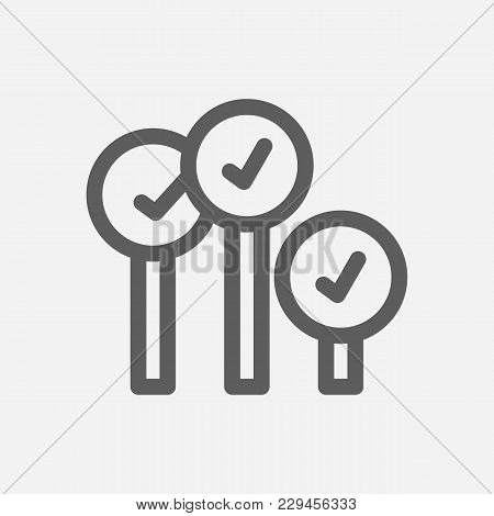 Bid-ask Spread Icon Line Symbol. Isolated Vector Illustration Of  Icon Sign Concept For Your Web Sit