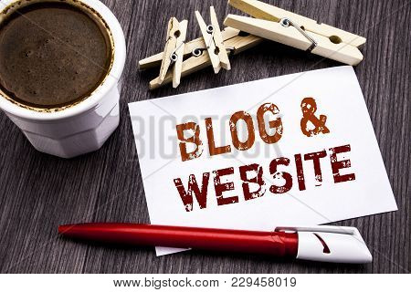 Hand Writing Text Caption Inspiration Showing Blog  Website. Business Concept For Social Blogging We
