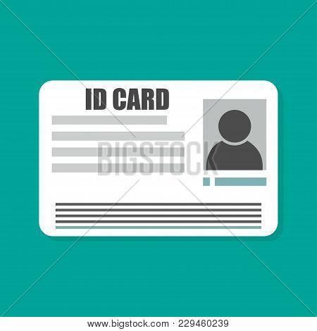 Identity Id Card Flat Style With Shadow