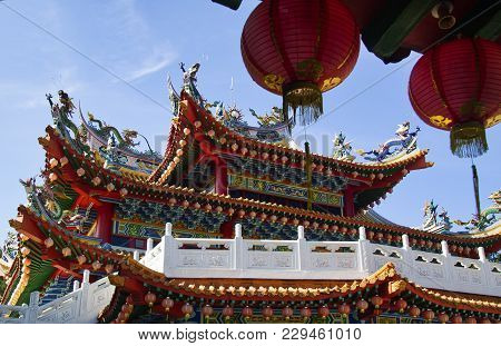 Detail Of The Chinese Temple Kuala Lumpur, Malaysia; Photographed In October 2017
