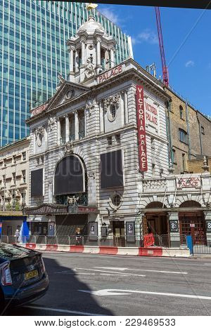 London, England - June 15 2016: Victoria Palace Theatre In City Of London, England, Great Britain