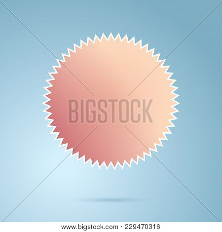 Abstract Geometric Gradient Colorful Icon. Vector Illustration. Blanc Color Emblem For Logo, Text, L