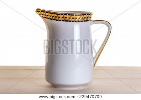 An Old German Empty Faience Mug For Cream