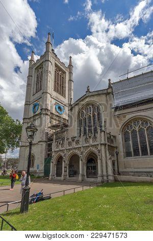 London, England - June 15 2016: Church Of St. Peter At Westminster, London, England, Great Britain