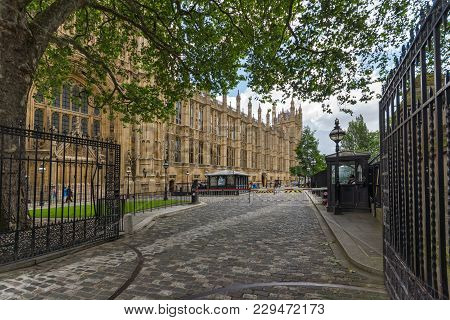 London, England - June 15 2016: Houses Of Parliament At Westminster, London, England, Great Britain