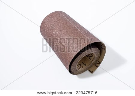 Sandpaper In A White Background In A Composition