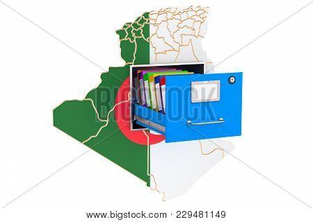 Algerian National Database Concept, 3d Rendering Isolated On White Background