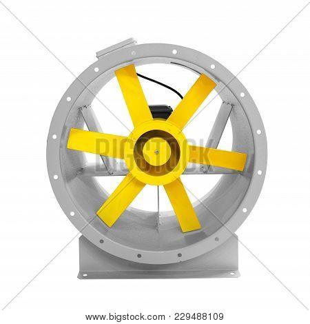 Air Turbine Fan For Ventilation And Air Conditioning Isolated On White Background